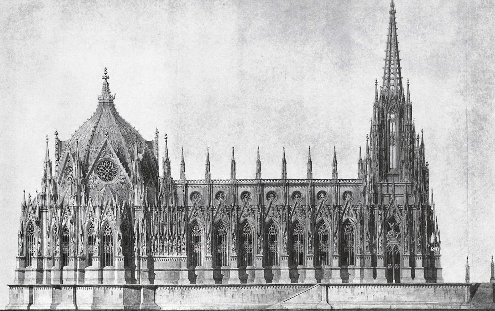 Abb. 7: Entwurf für einen Dom als Denkmal für die Befreiungskriege in Berlin, Karl Friedrich Schinkel, 1814/15, Staatliche Museen zu Berlin