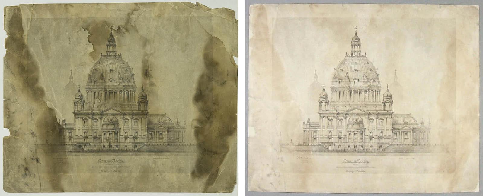 Vor und nach der Restaurierung (Fotos: Holger Herschel/ Silke Schröder)
